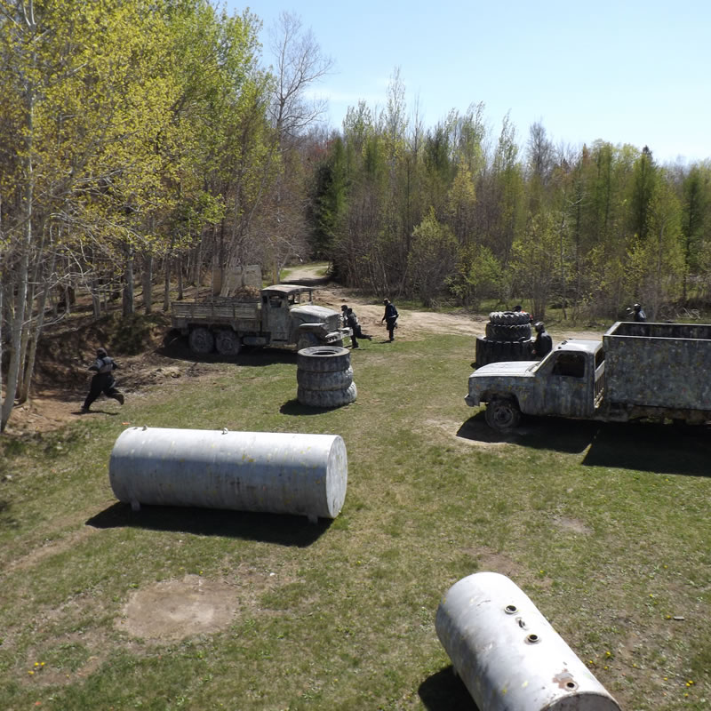 people playing paintball at Commando Action Centre in Ottawa