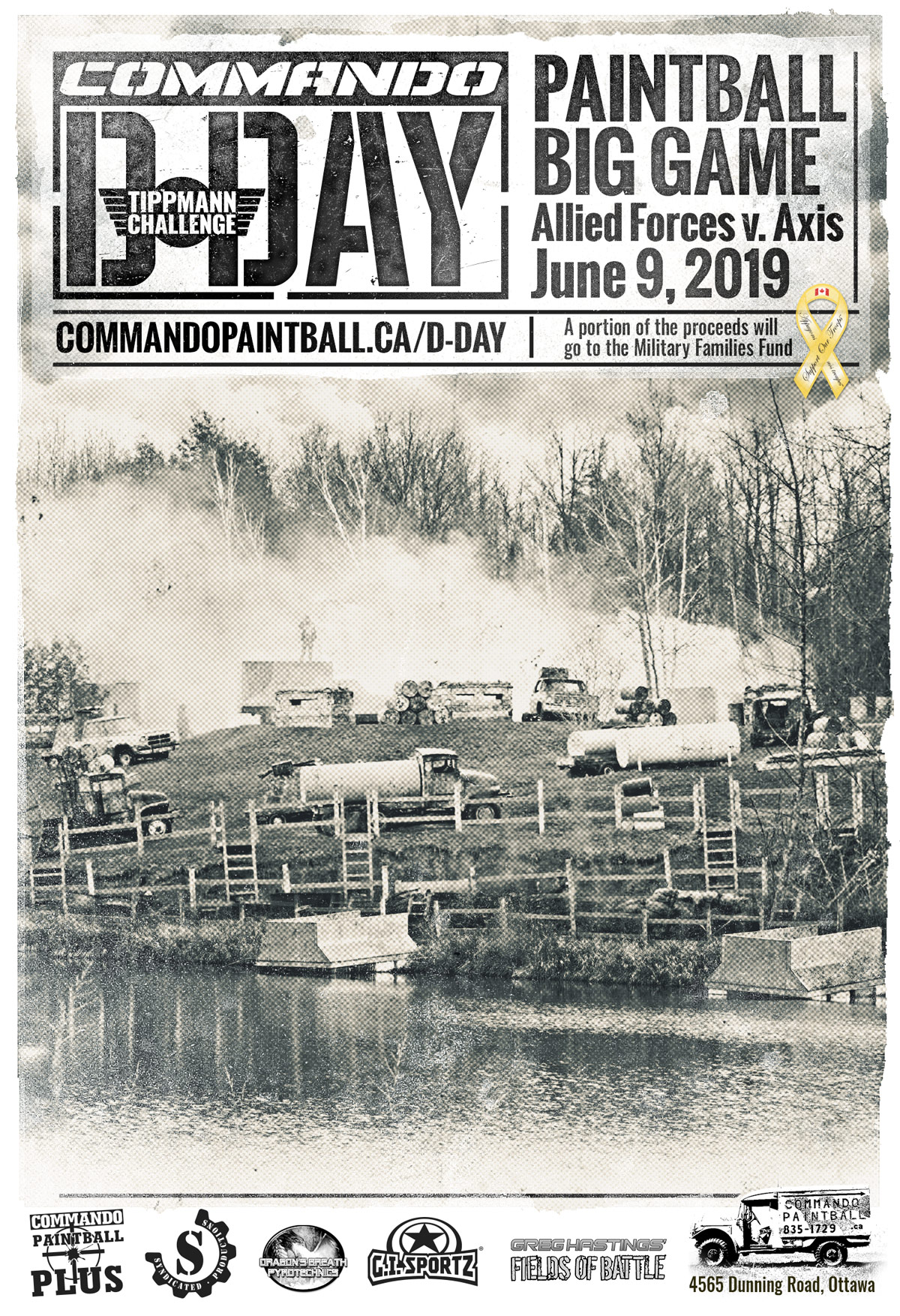 Commando Action Centre D Day Paintball Match in Ottawa