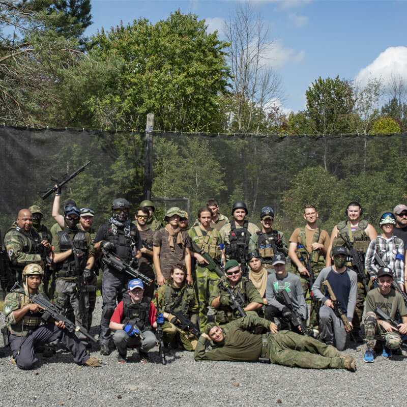 team of paintball players at commando paintball