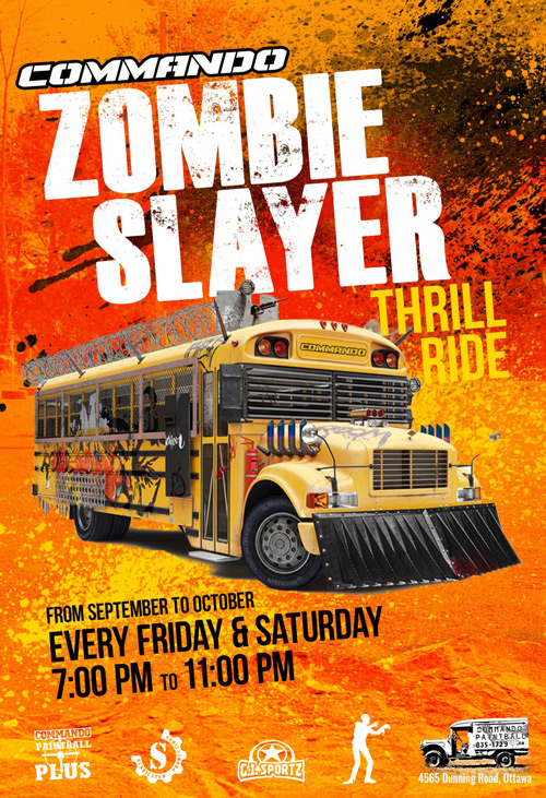 zombie slayer thrill ride