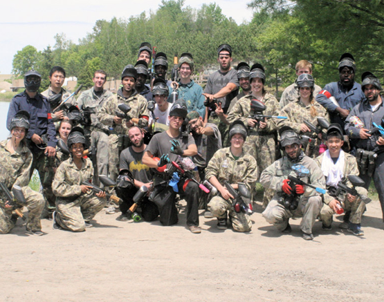 group of people ready to play paintball in Ottawa