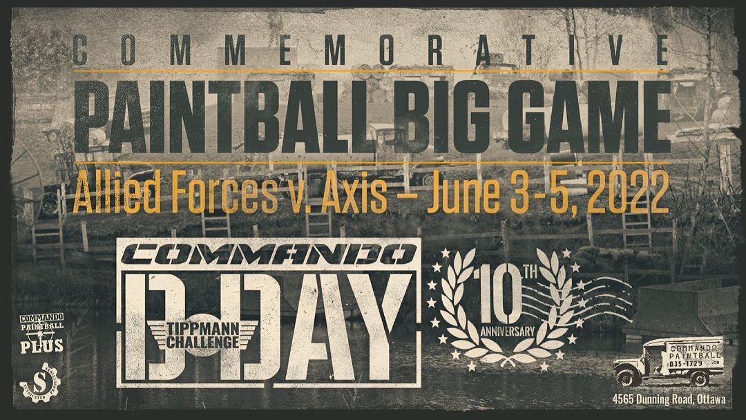 poster to promote paintball big game
